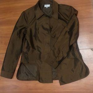 🌺Kenar Ann Tjian Bronze Brown Side Slit Jacket 12